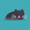 El gato está durmiendo | Ilustración vectorial