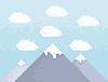 Mountain pixel art | Stock Vector Graphics