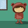 niedlichen Cartoon-Kind mit Bären Ohr Hoodie