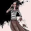 Векторный клипарт: Красивая моды женщина