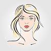 Векторный клипарт: Мода портрет