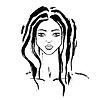 Векторный клипарт: портрет красивой молодой женщиный