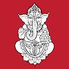 Goldene Ganapati Meditation im Lotussitz