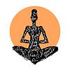 Yoga woman. Typography poster | Stock Vector Graphics