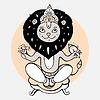 Векторный клипарт: Индуистский бог Нарасимха
