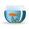 Goldfish in Runde Aquarium