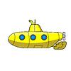 Cartoon submarine