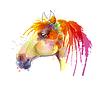 Głowa konia akwarela   Stock Vector Graphics