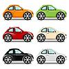 Mini-Auto mit großen Rädern, sechs Farben