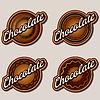 Schokoladen-Etiketten-Design-Vorlagen eingestellt