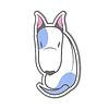 Cartoon sitting bull terrier