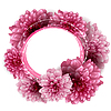 Round floral frame made of peony flowers | 向量插图