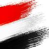 Grunge-Hintergrund in den Farben der ägyptische flagge