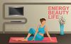 Junge Frau praktizieren Yoga zu Hause