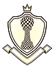 Heraldik königliche Wappen mit Chess Pawn, Vektor illustrati