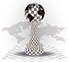 Векторный клипарт: Фон с шахматной пешки, векторные иллюстрации