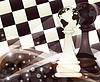 Schach Banner mit zwei Spielball, Vektor-Illustration