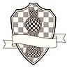 Chess heraldischen Wappen mit Bauer und Krone, Vektor-