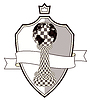 Wappen Chess Pawn, Vektor-Illustration
