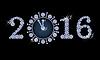 Neues Jahr 2016 Diamanten Uhr Banner, Vektor