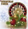 Weihnachts poker neue Jahr Hintergrund, Vektor illustratio