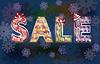 Weihnachten Winter sale background, Vektor-Illustration