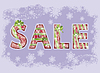 Christmas sale Hintergrund, Vektor-Illustration