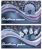 Weihnachts-Casino-Banner, Vektor-