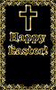 Happy Easter golden Cross-Banner, Vektor-Illustration