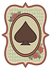 Vintage-Casino-Poker-Spaten-Karte, Vektor-Illustration