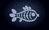 Vektor Cliparts: Diamant-Fisch-Banner, Vektor-Illustration