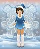 Winter-Fee-Mädchen, Vektor-Illustration