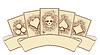 Векторный клипарт: Урожай покер карты с черепом, векторные иллюстрации