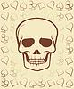 Векторный клипарт: Покер карты с черепом, векторные иллюстрации