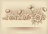 Vektor Cliparts: Vintage floral InvitationCard mit Schmetterling, Vektor