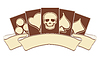 Vektor Cliparts: Vintage-Casino-Banner mit Poker-Elemente, Vektor