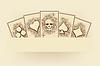Vektor Cliparts: Vintage-Poker-Karten-Hintergrund, Vektor-Illustration