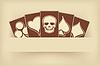 Vektor Cliparts: Vintage Hintergrund mit Pokerkarten, Vektor
