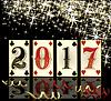 Vektor Cliparts: New 2017 Jahre Poker-Karten-Banner, Vektor-Illustration