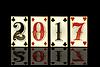 Vektor Cliparts: New 2017 Jahre Poker-Karten, Vektor-Illustration