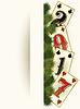 New 2017 Jahre Casino-Banner mit Poker-Karten, Vektor