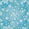 Векторный клипарт: Зимние снежинки бесшовные модели, векторные иллюстрации