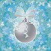 Векторный клипарт: Зима Новый год снег бесшовные обои, вектор