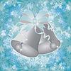 Векторный клипарт: Зимний бесшовные обои с Рождественские колокольчики, вектор