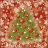 Векторный клипарт: Зима дерево бесшовные обои, С Новым годом