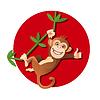 Affe hängen am Baum | Stock Vektrografik