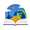 Geographie Emblem | Stock Vektrografik
