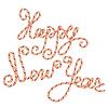 Caramelo Happy New Year letras, elemento para el invierno | Ilustración vectorial