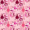 Ferien Nahtlose Muster für Mädchen. Princess Room