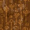 Nahtloses Muster mit goldenen Antike Weinlese-Keys i